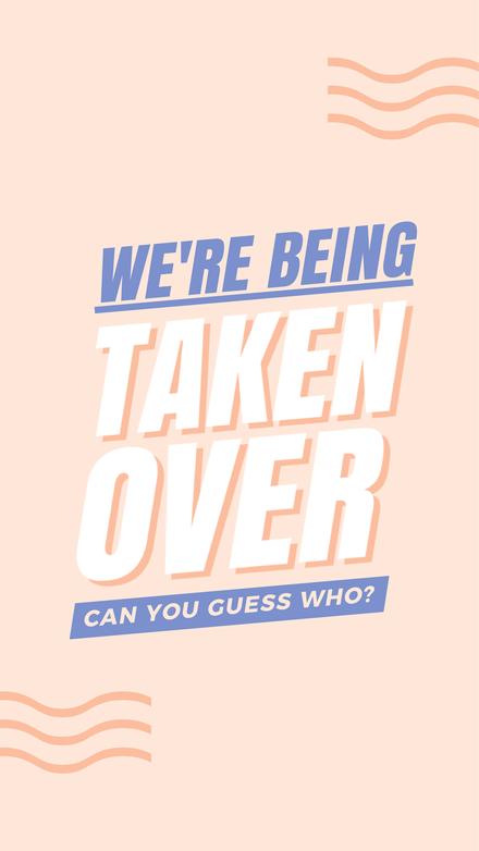 Pastel Peach & Purple Instagram Takeover Graphic Template