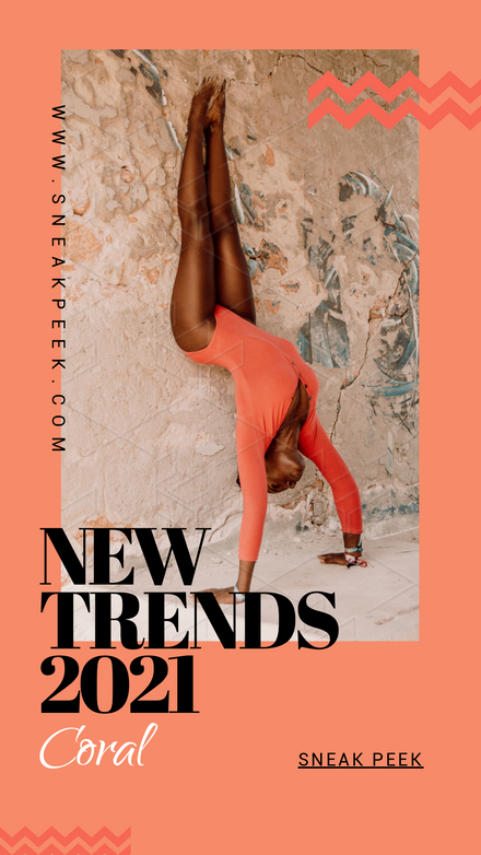 Coral Trends Graphic Template