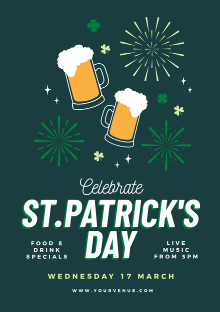 St Patricks Day - Beers & Bursts Template