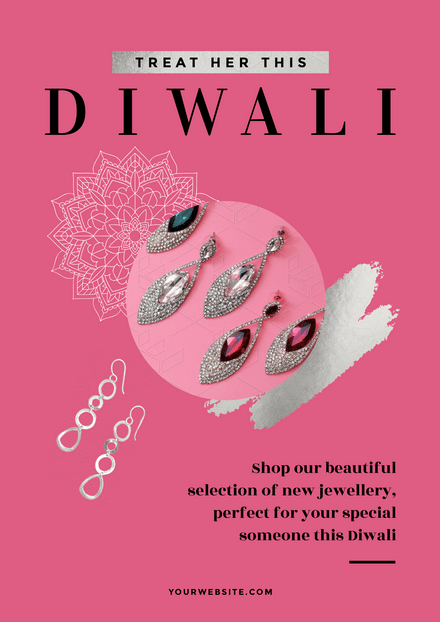 Treat her, This Diwali - Pink Template