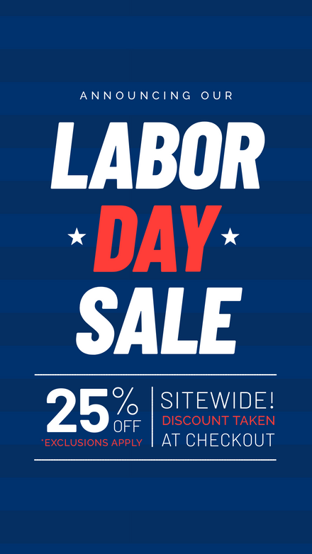 Labor Day Sale Stars & Stripes