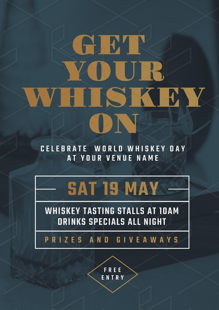 get your whiskey on promotional template