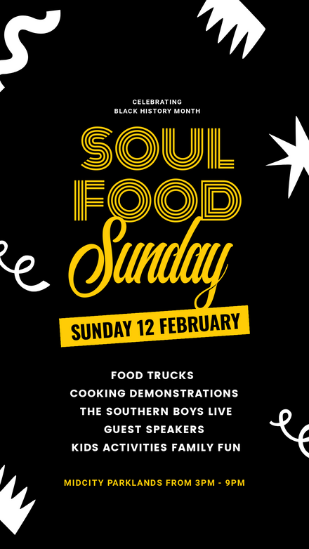 Soul Food Sunday Event Graphic Template
