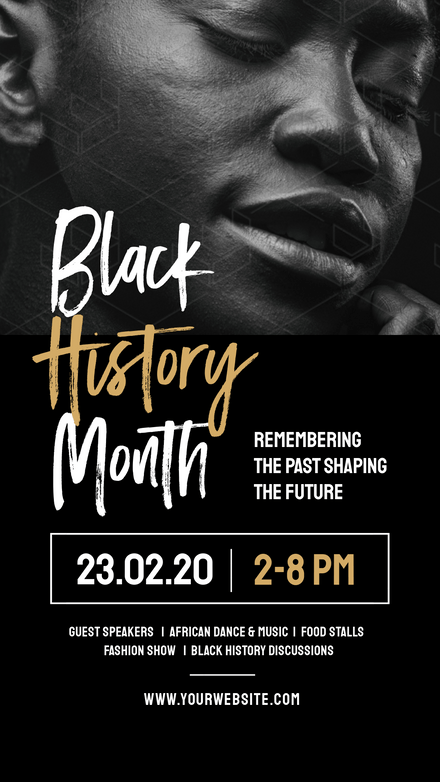 Black History Month Event Template