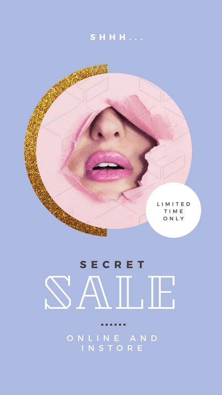Secret Sale Retail Graphic Template
