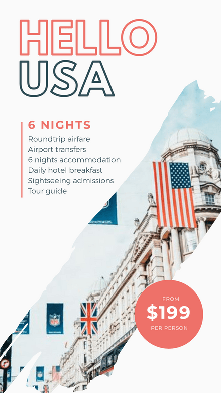 Hello USA Holiday and Travel Agent Template