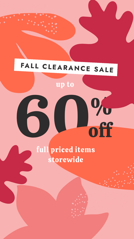 Thanksgiving Fall Clearance Sale