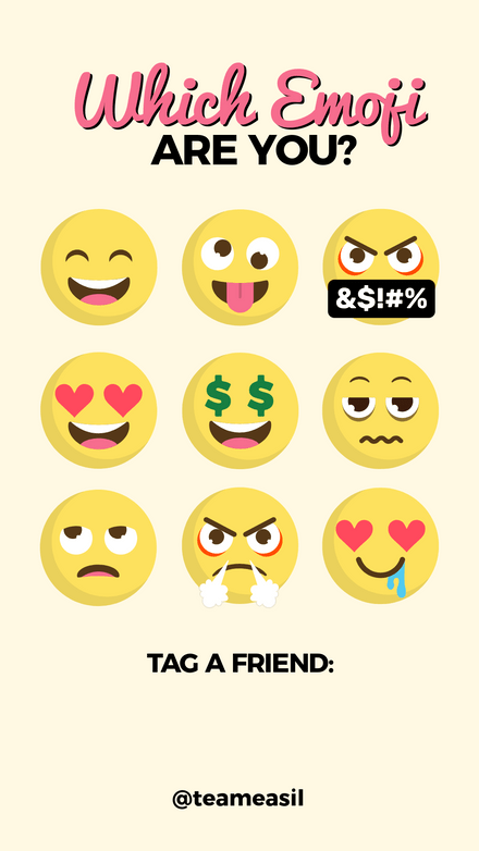 Which Emoji are you Challenge Template