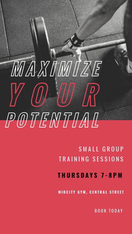 Maximize your Potential - Duotone Trainer Graphic Template