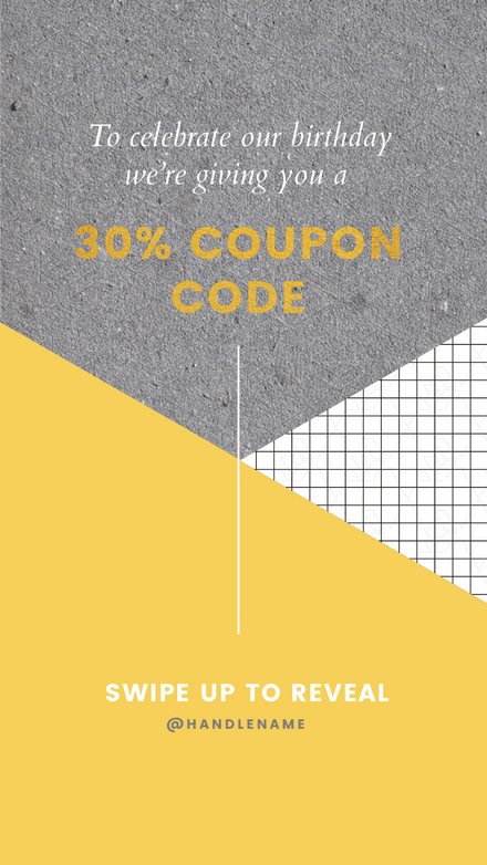 Discount Code Instagram Story Template for Retail