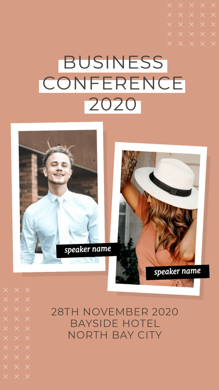 Business Conference 2 Polaroid Frame Template