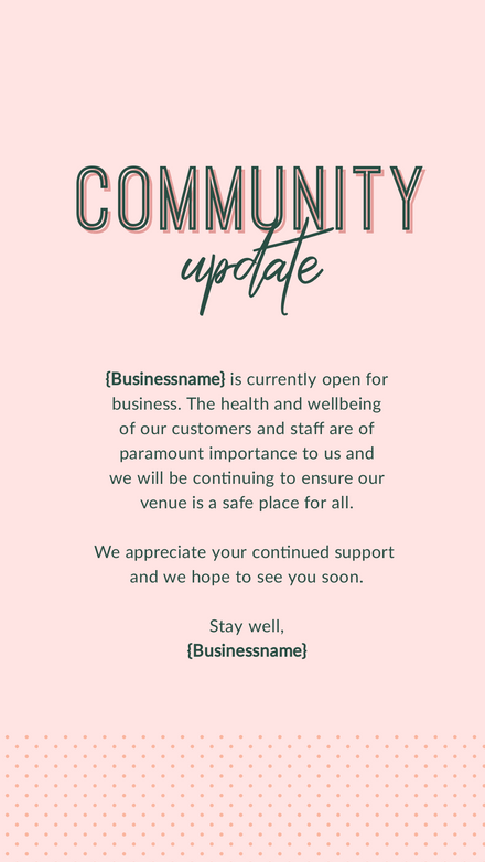 Community Update Pink & Green Template
