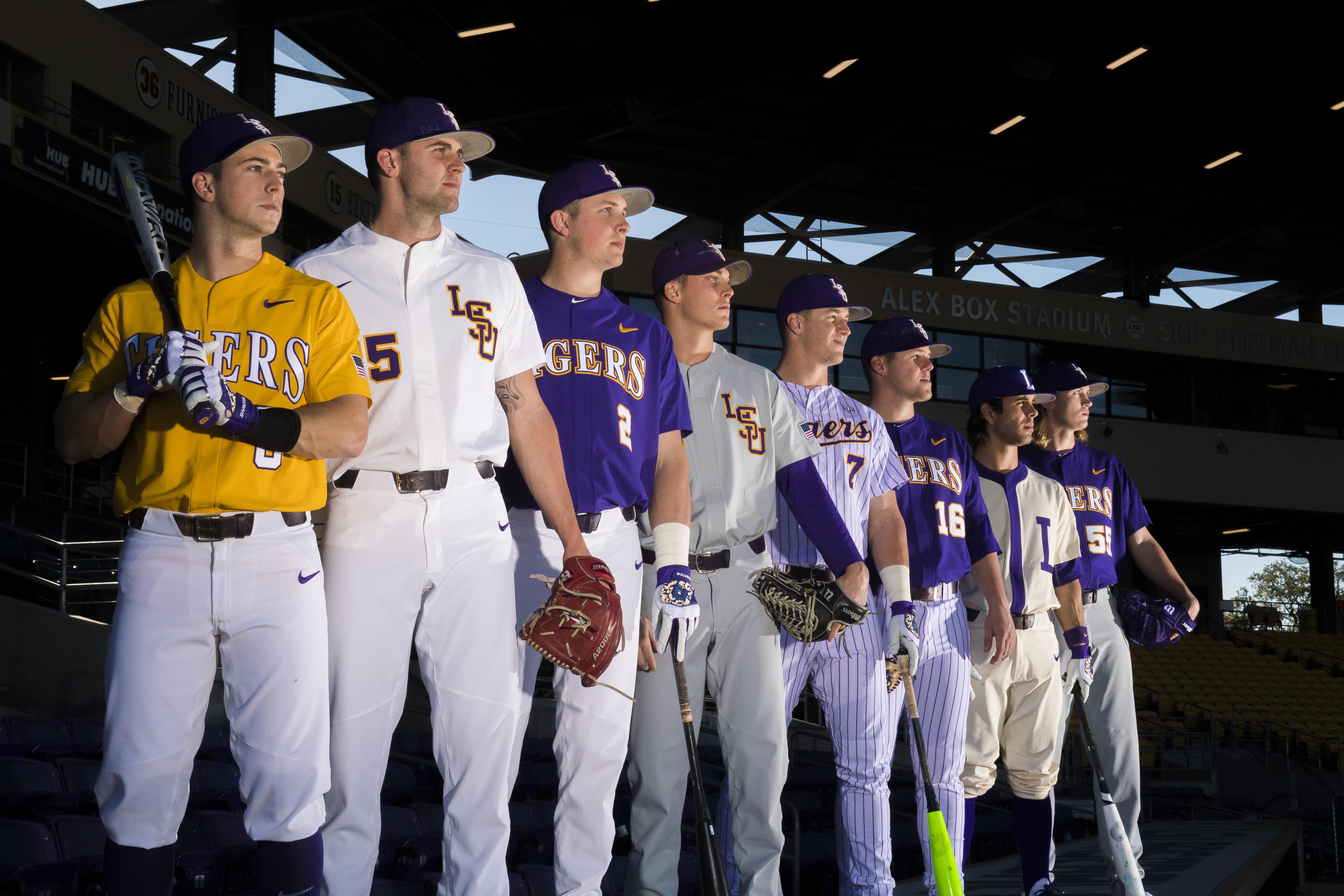 lsu baseball has 8 uniform combos for 2017 with a special throwback rh nola com
