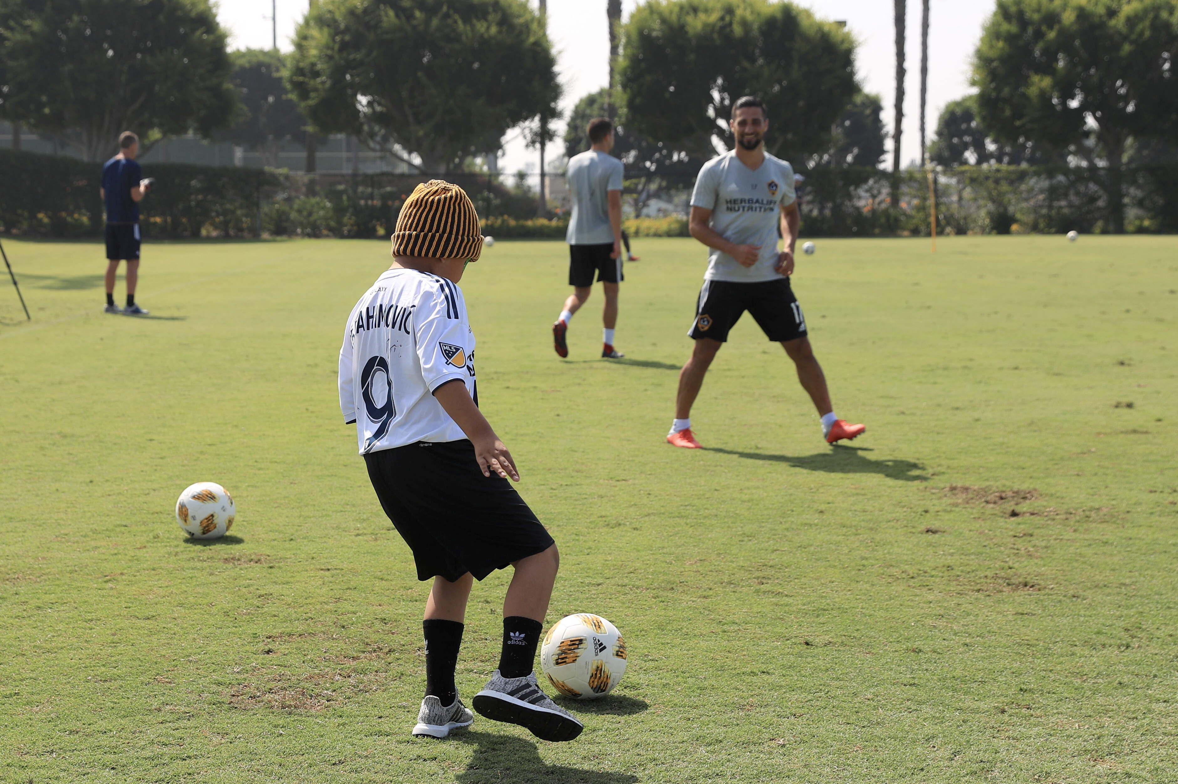 8-year-old Ethan Castro meets Zlatan Ibrahimovic and the LA