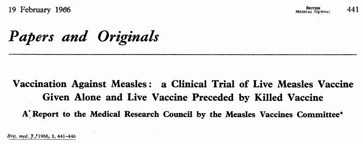 50 years of measles vaccination in the UK by Public Health