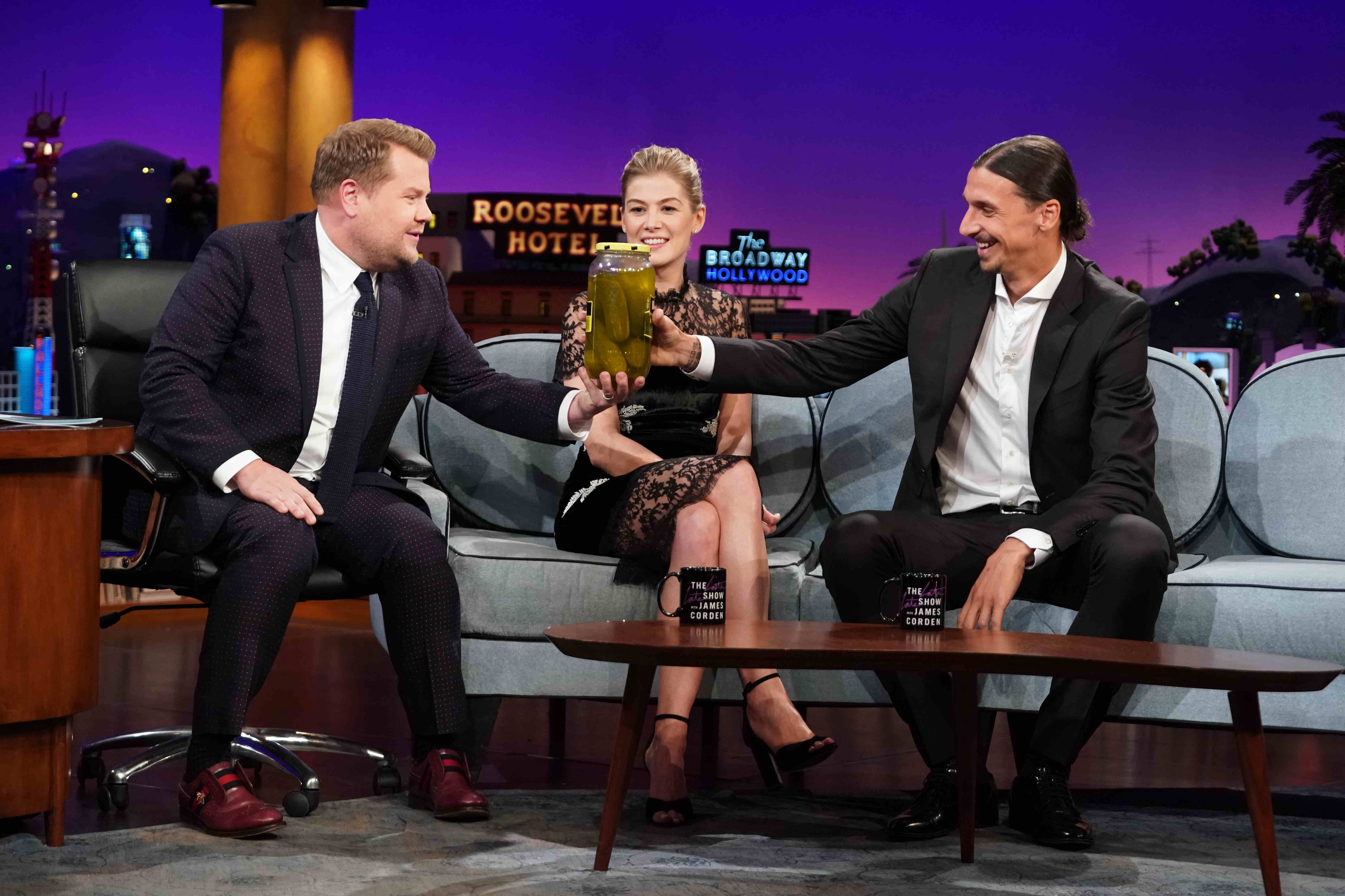 30a134db8 Zlatan Ibrahimovic features on The Late Late Show with James Corden ...