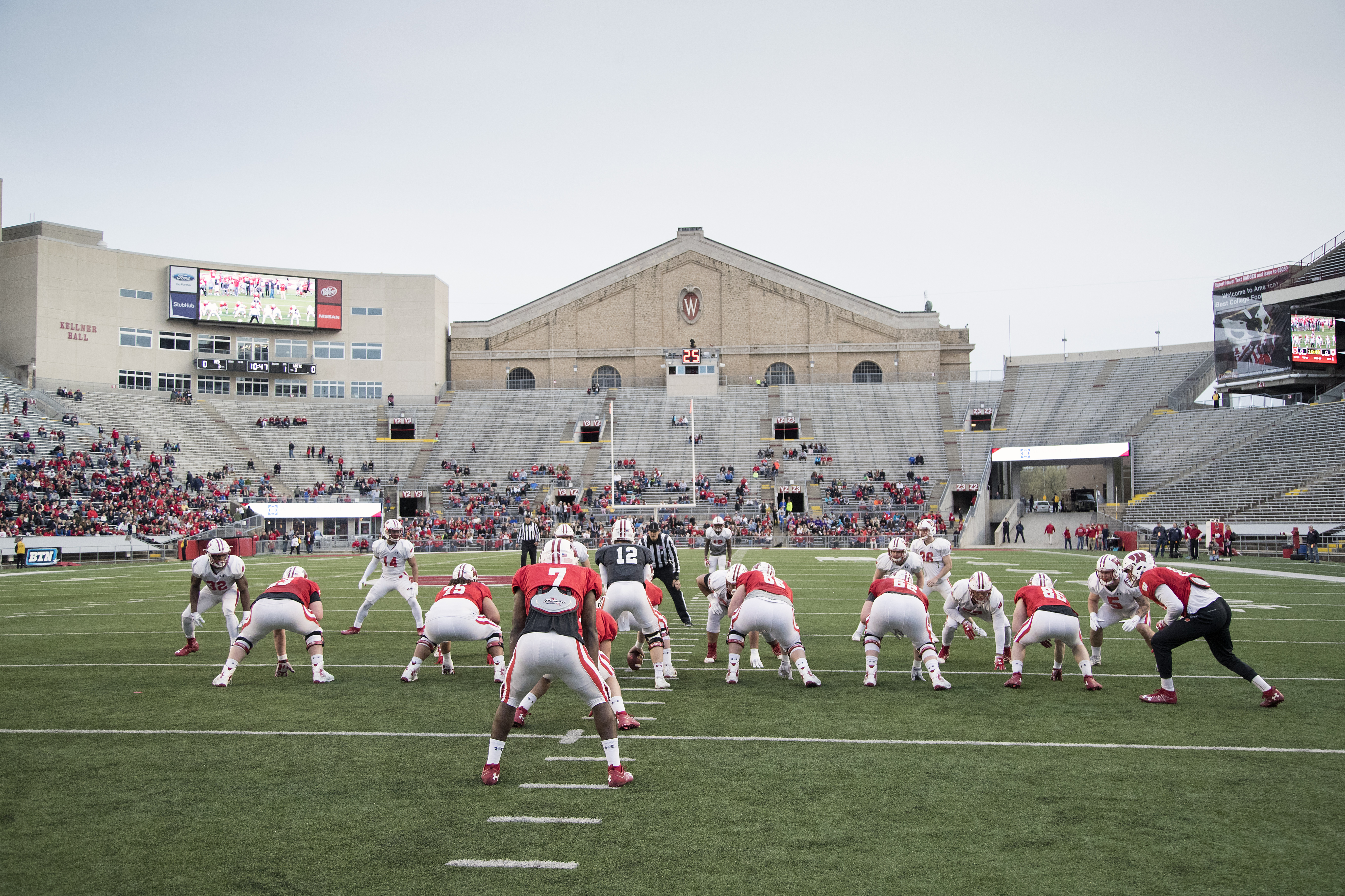 football wisconsin athletics defense claims win in badgers