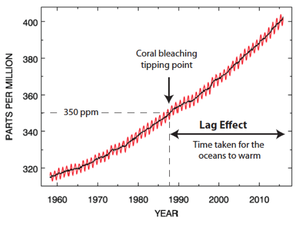 Climate change time lags in the ocean: What it means for coral reefs ...