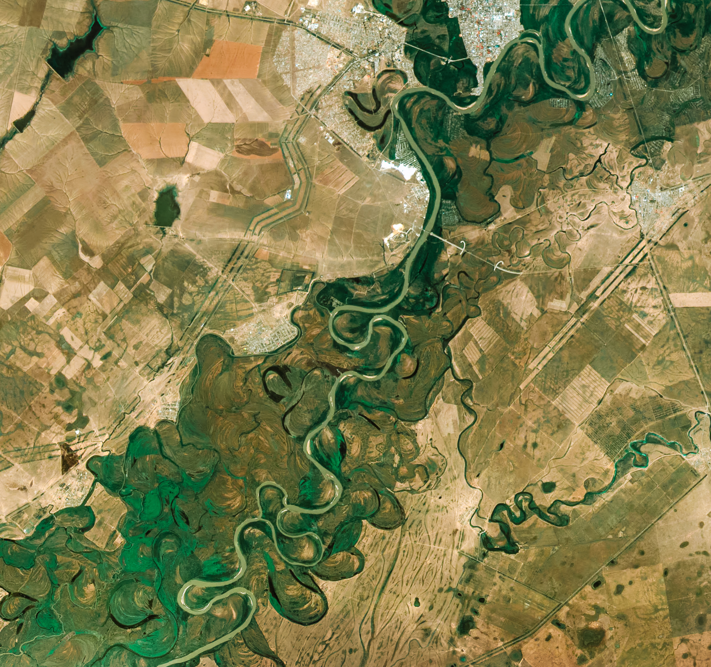 Twists and turns of the ural river by urthecast gallery oxbow lakes ural river publicscrutiny Images