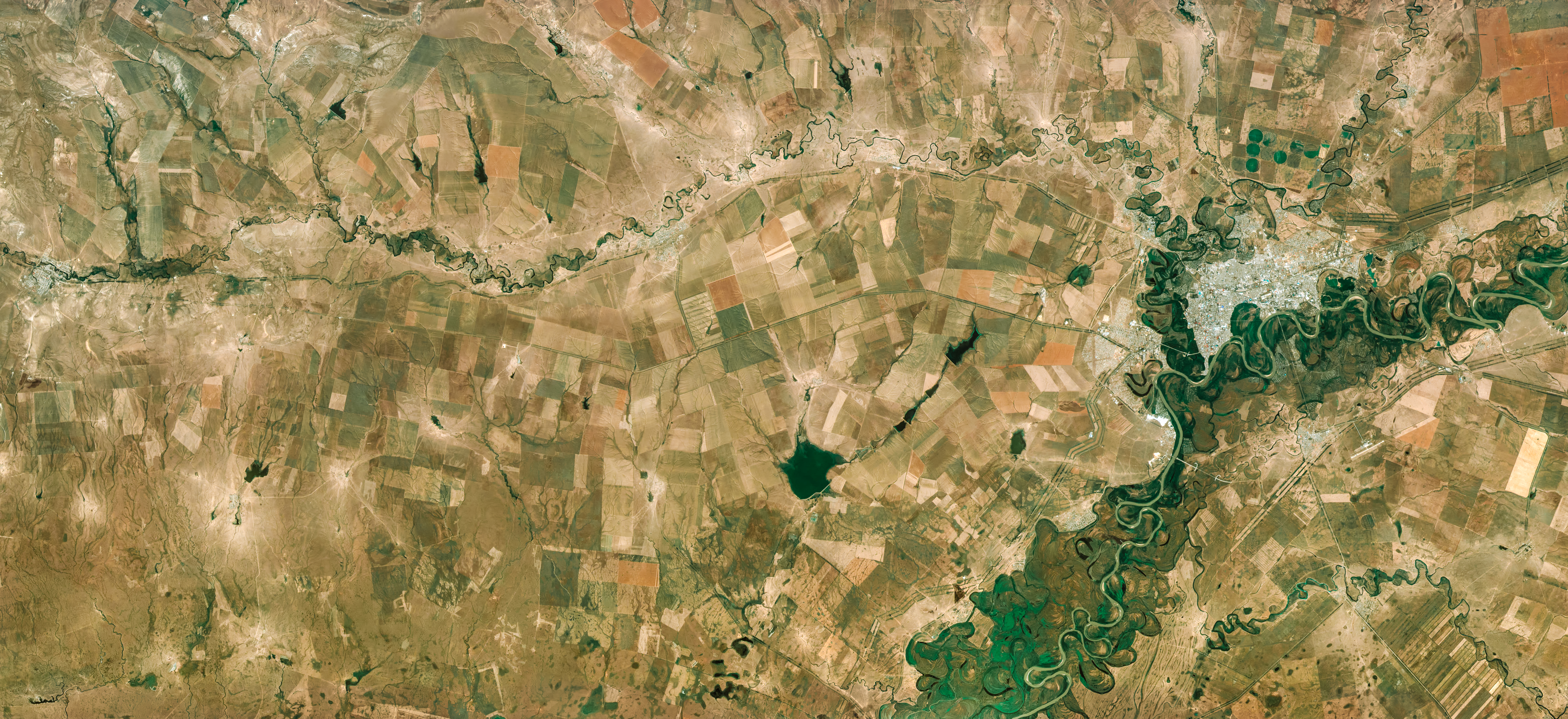 Twists and turns of the ural river by urthecast gallery ural river kazakhstan publicscrutiny Images