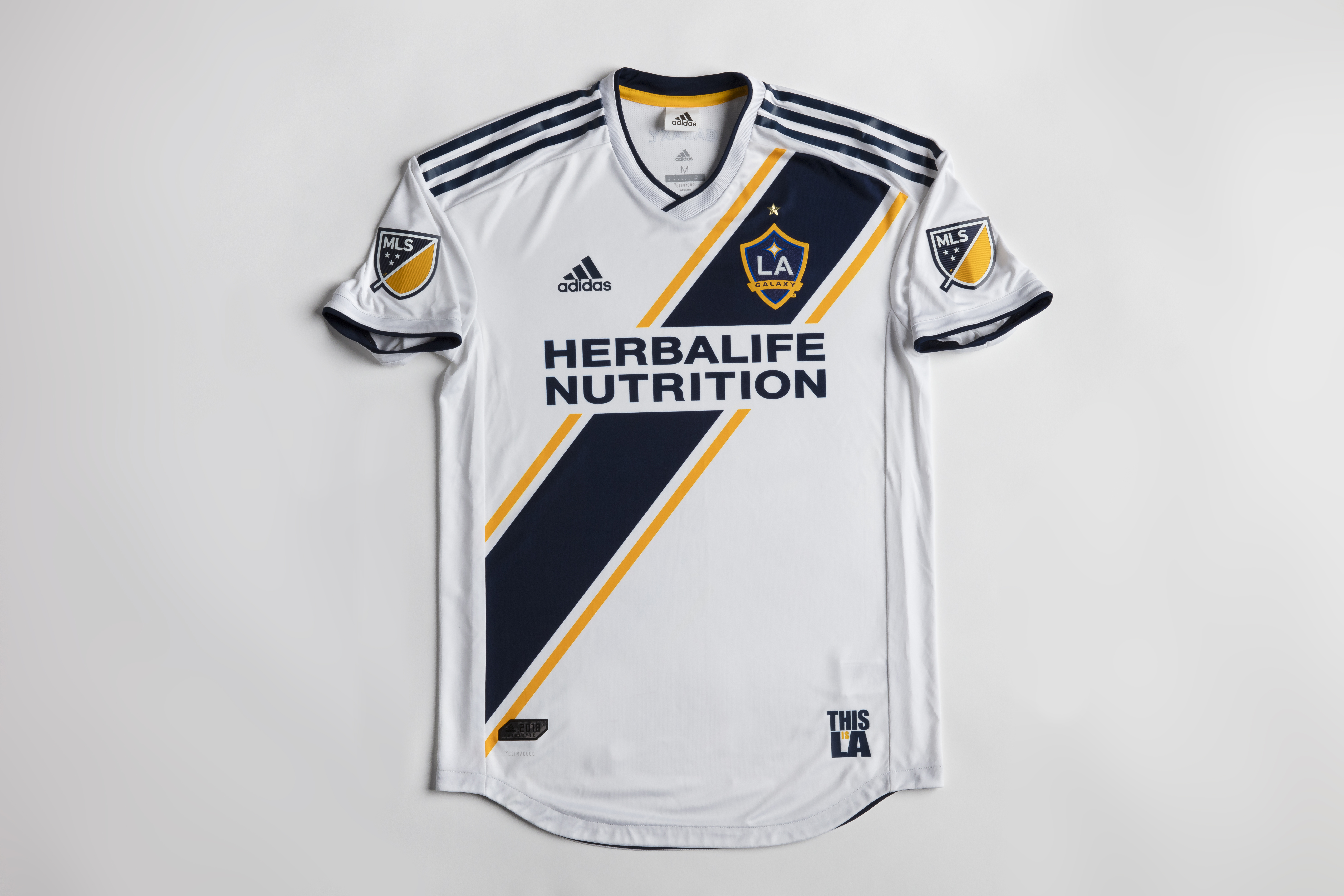 673bb7cd1 All the details of LA Galaxy s new 2018 primary kit