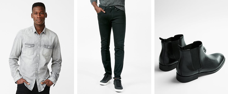 mens-denim-shirt-black-jeans-boots