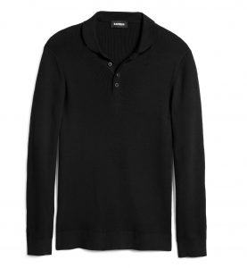 shawl-neck-henley-sweater