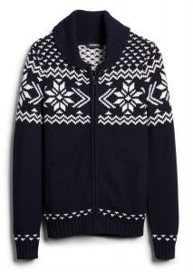 fair-isle-shawl-collar-cardigan