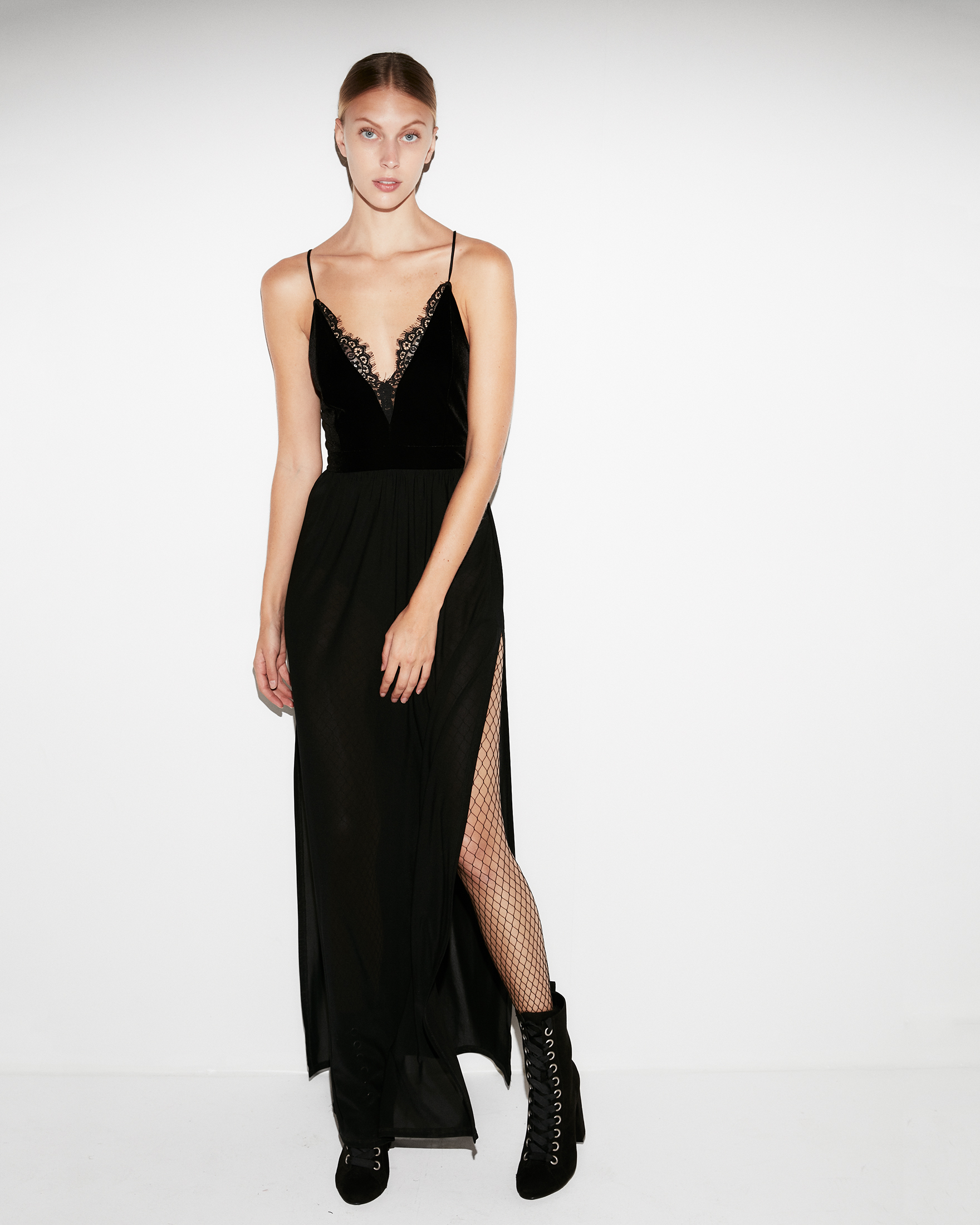 3ee65b99e3 Velvet Sheer Maxi Dress | Express