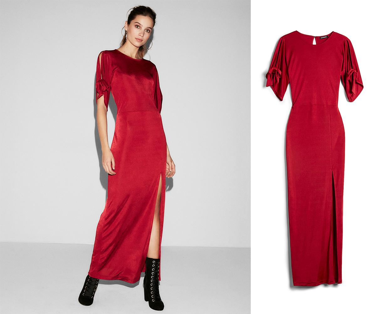 tie-sleeve-high-slit-maxi-dress