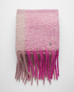 pink-striped-plaid-fringe-blanket-scarf