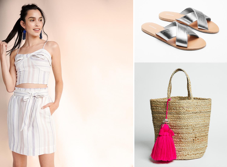 striped-linen-blend-sash-waist-pencil-skirt-tank-sandals-tote