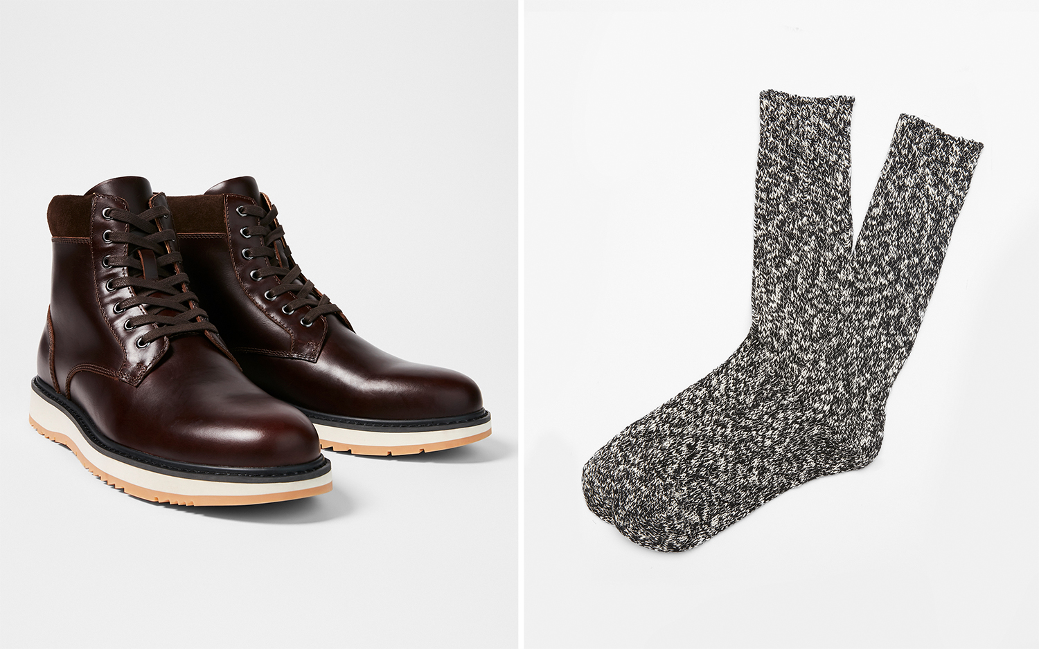 contrast-sole-leather-boots-boot-socks