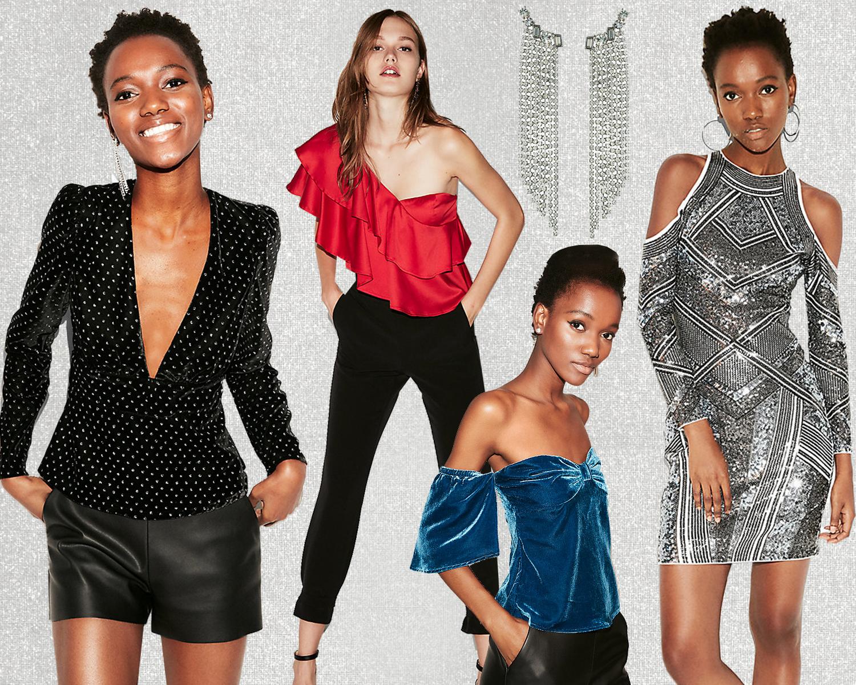 80s-trend-velvet-tops-rhinestone-earrings-metallic-dress