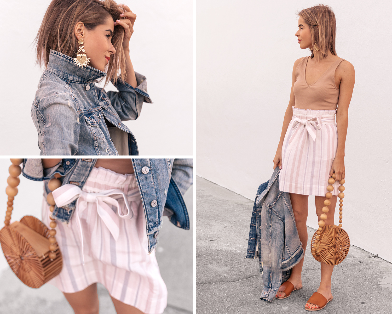 sash-waist-pencil-skirt-express-one-eleven-fitted-v-neck-tank-cropped-denim-jacket
