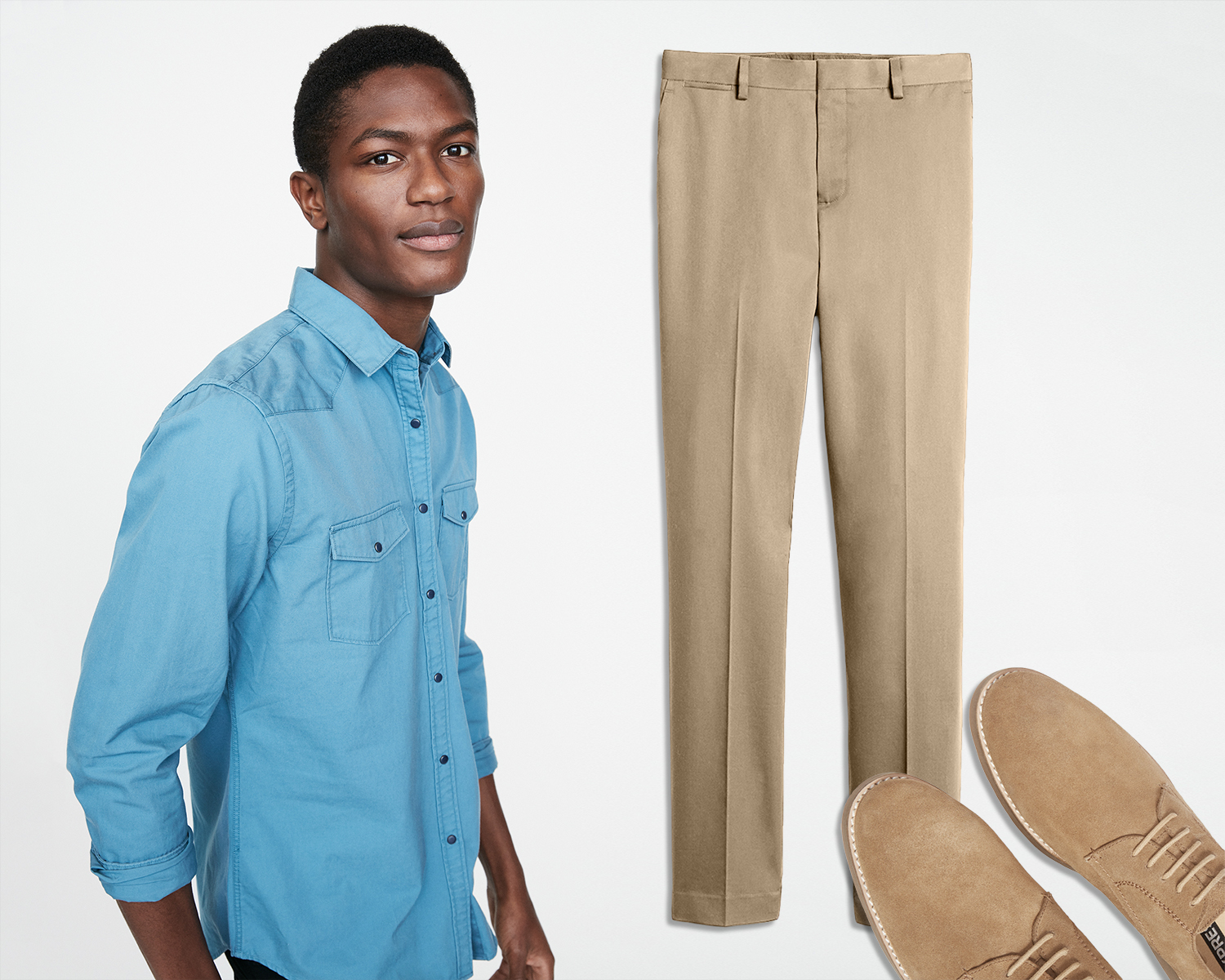 mens-twill-western-shirt-cotton-dress-pants-suede-casual-oxfords
