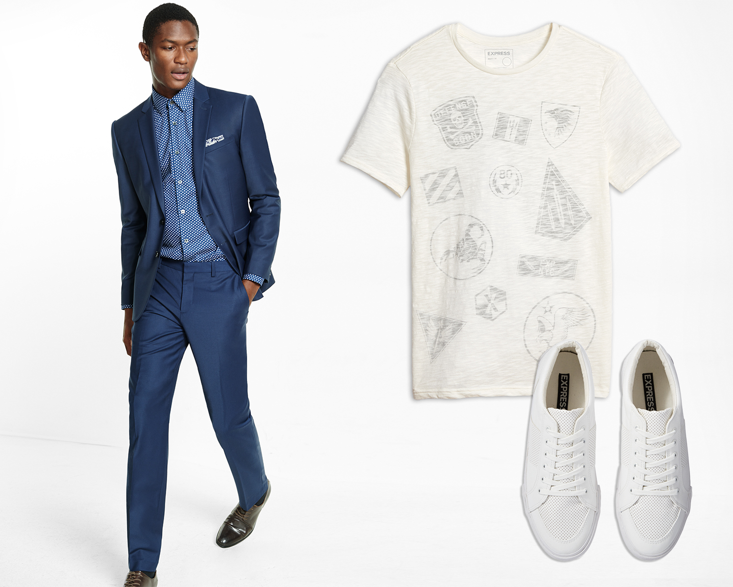 mens-navy-suit-graphic-tee-white-sneakers