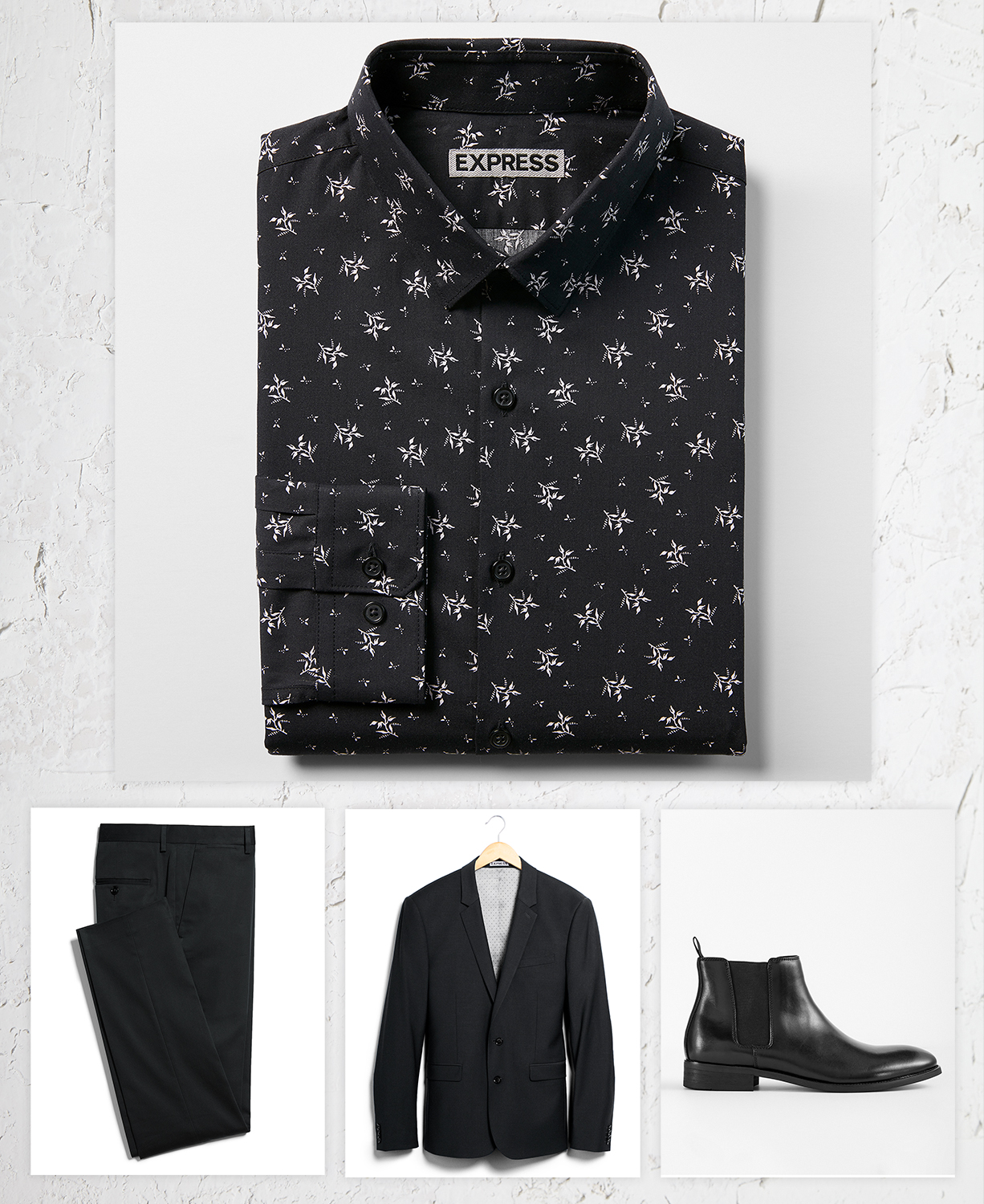 mens-floral-dress-shirt-black-suit-chelsea-boots