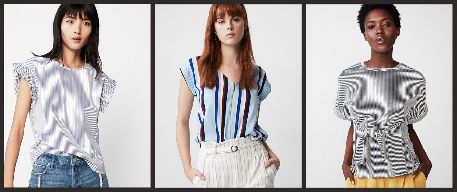 womens-striped-short-sleeve-blouses