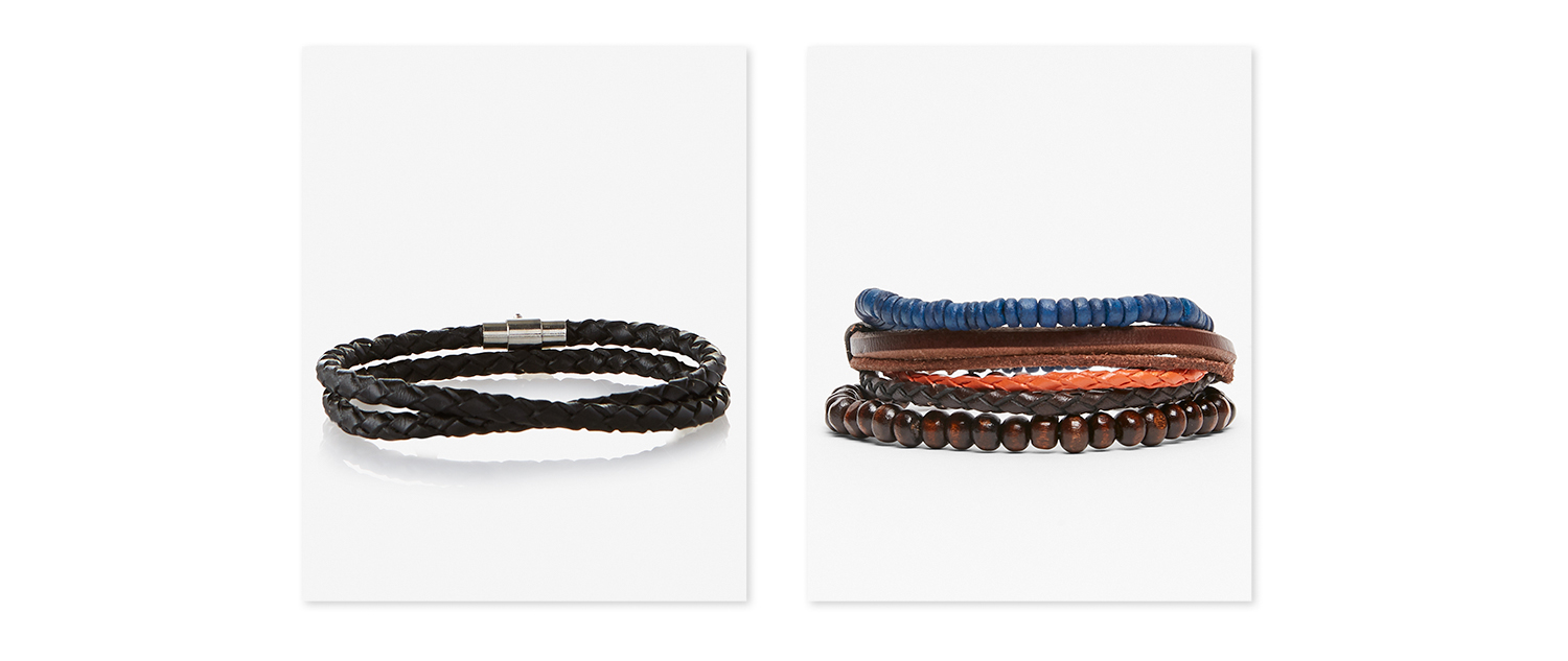 mens-leather-beaded-bracelets