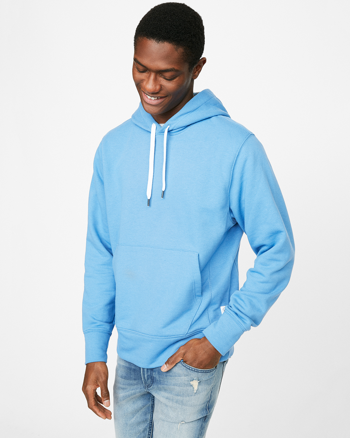 mens-light-blue-fleece-hoodie