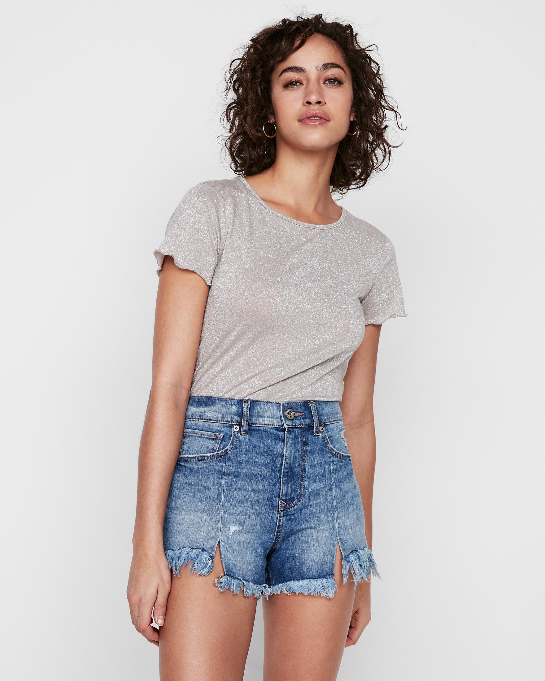 high-waisted-distressed-denim-shorts