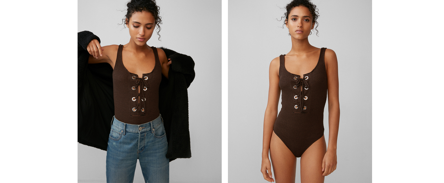 ribbed-lace-up-bodysuit
