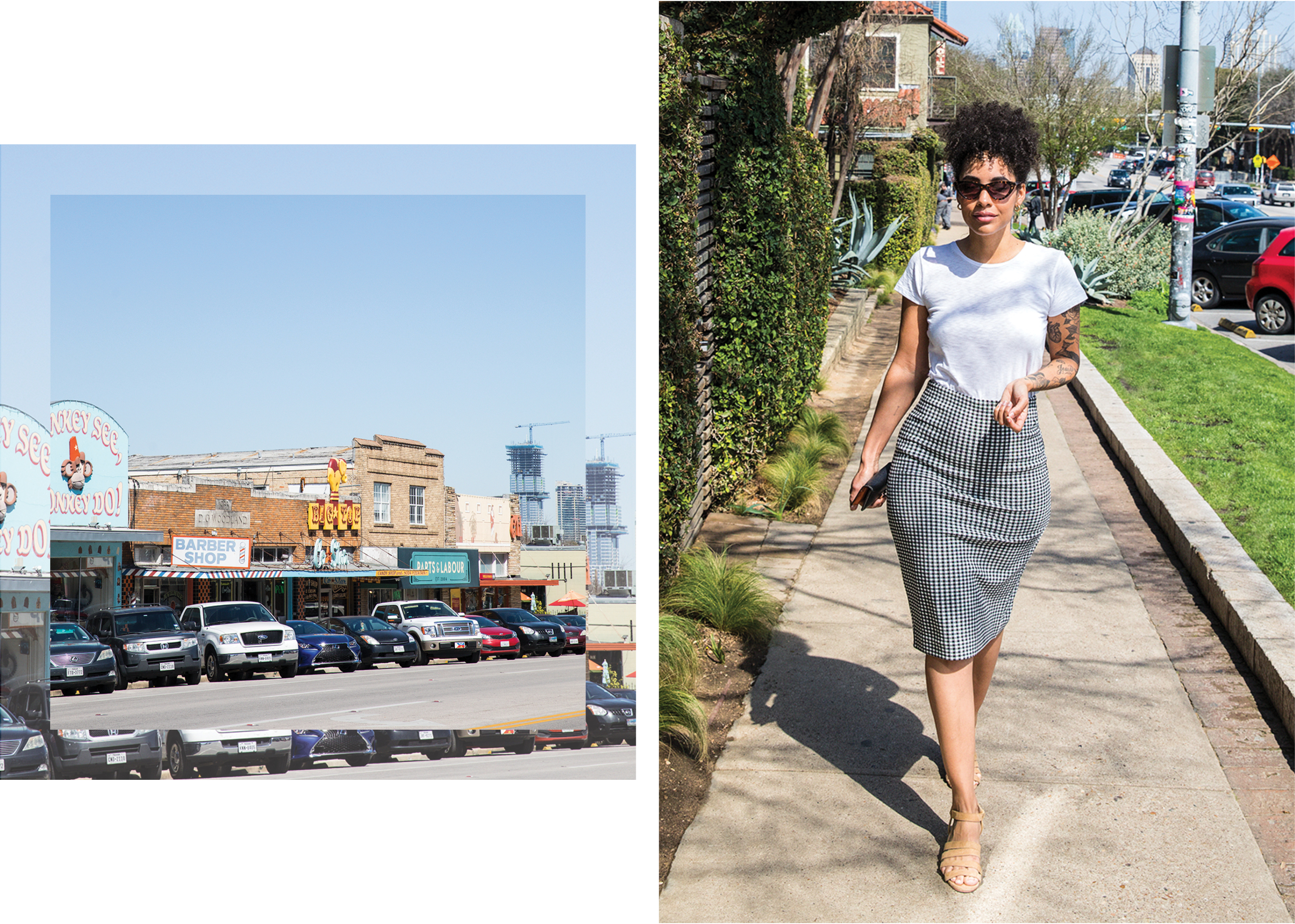 south-congress-avenue-nikisha-riley-white-tee-ginham-skirt