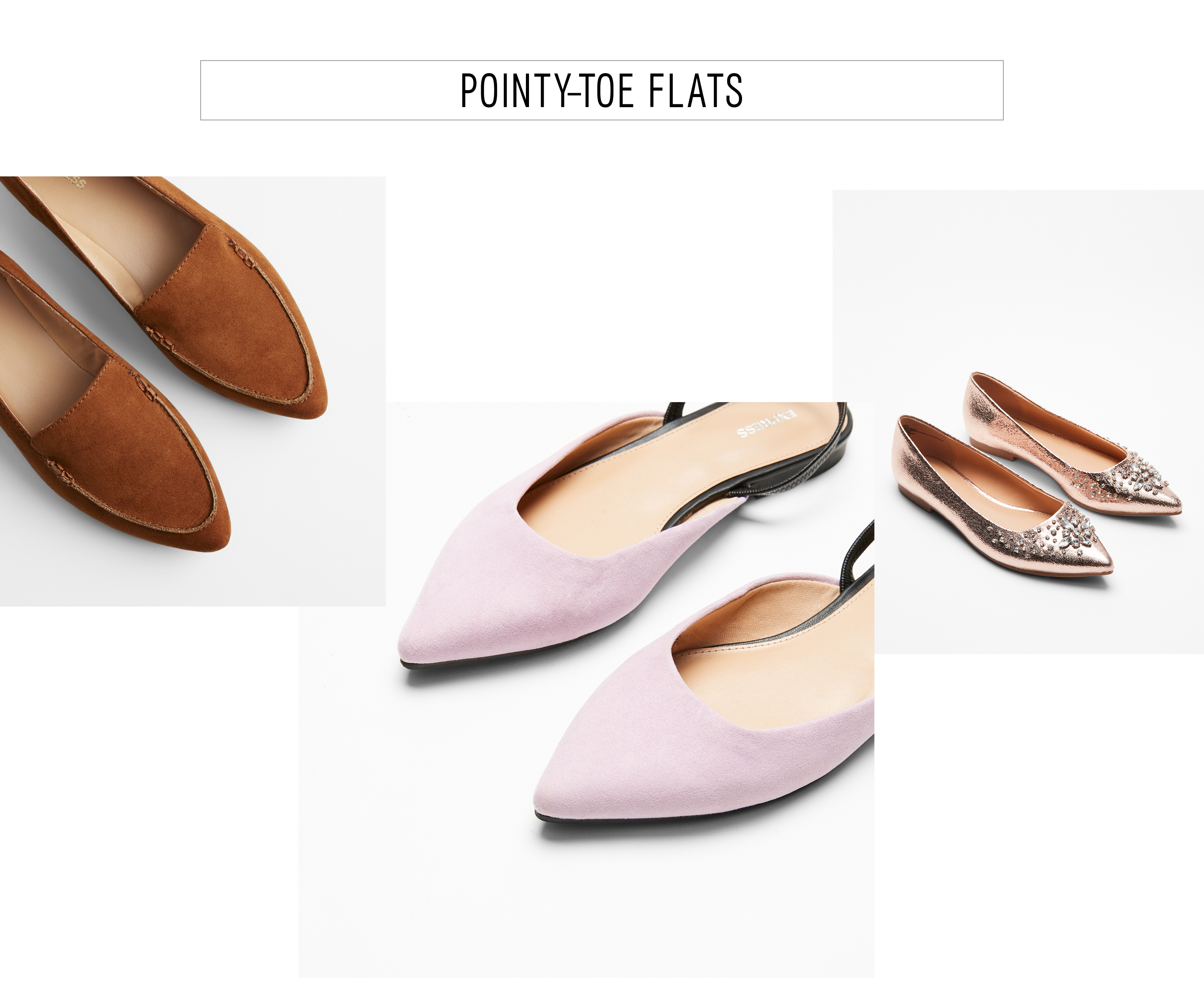 This Spring, Flats Are Freshest When Rendered In A Pointed Toe Silhouette  With Unique Details From Pastel Shades To Versions ...
