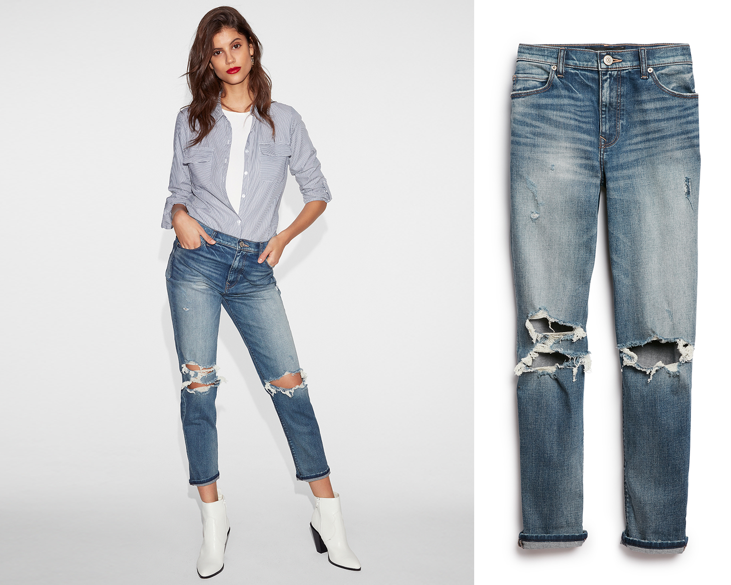 womens-high-waisted-distressed-ankle-jeans