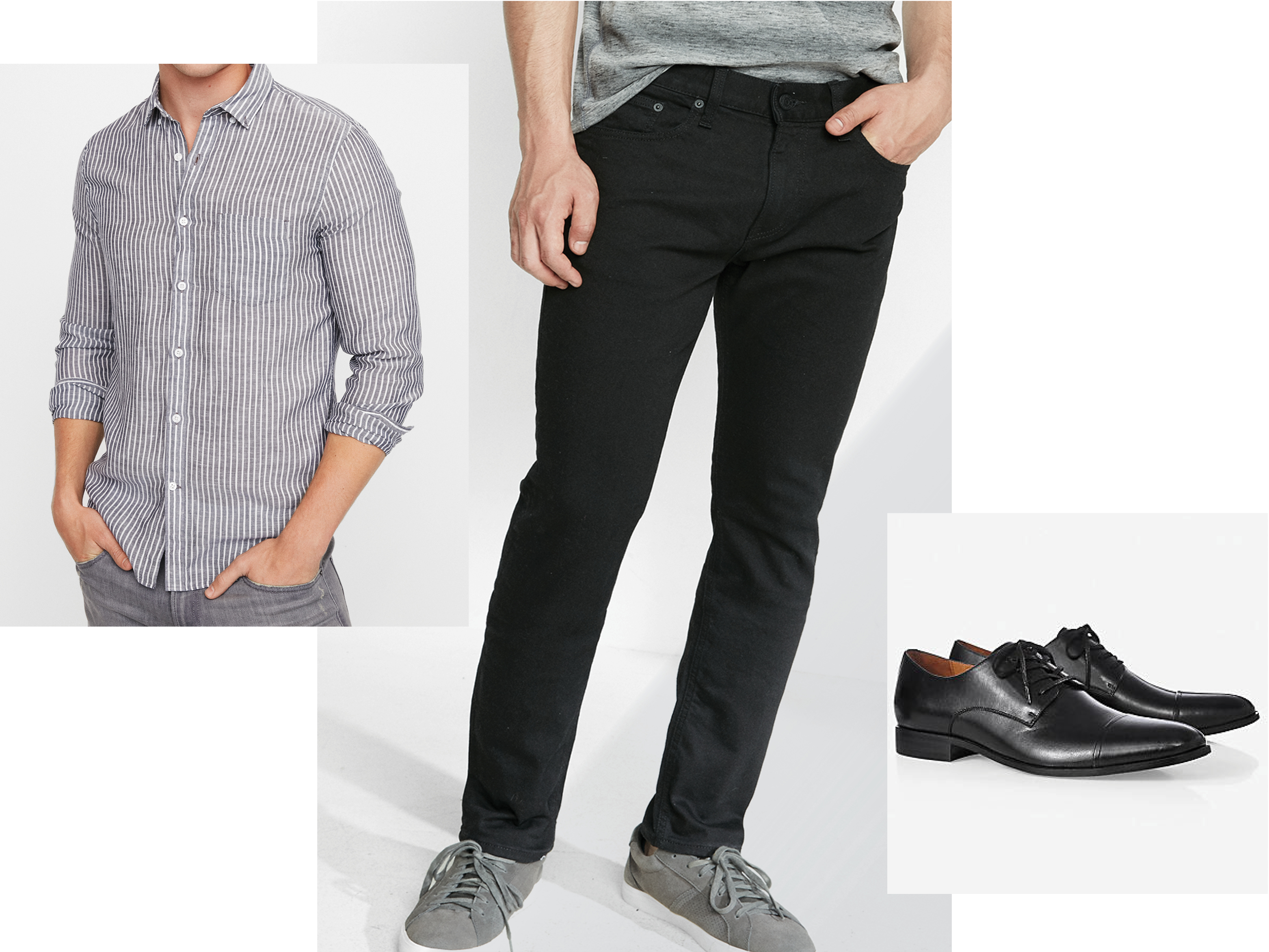 mens-striped-shirt-black-jeans-dress-shoes