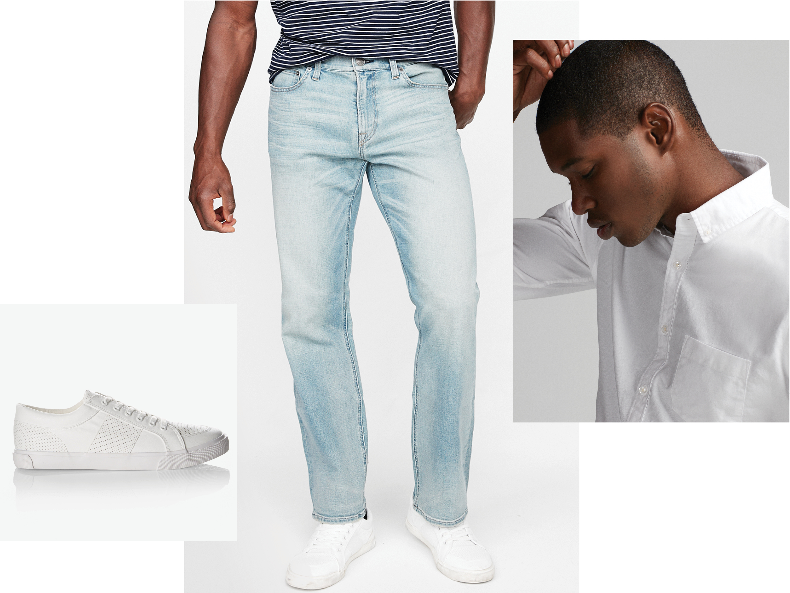 white-sneakers-light-wash-jeans-white-oxford-shirt