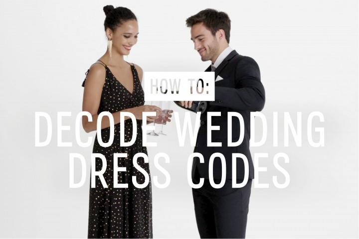 Decoding Wedding Dress Codes The Edit X Express
