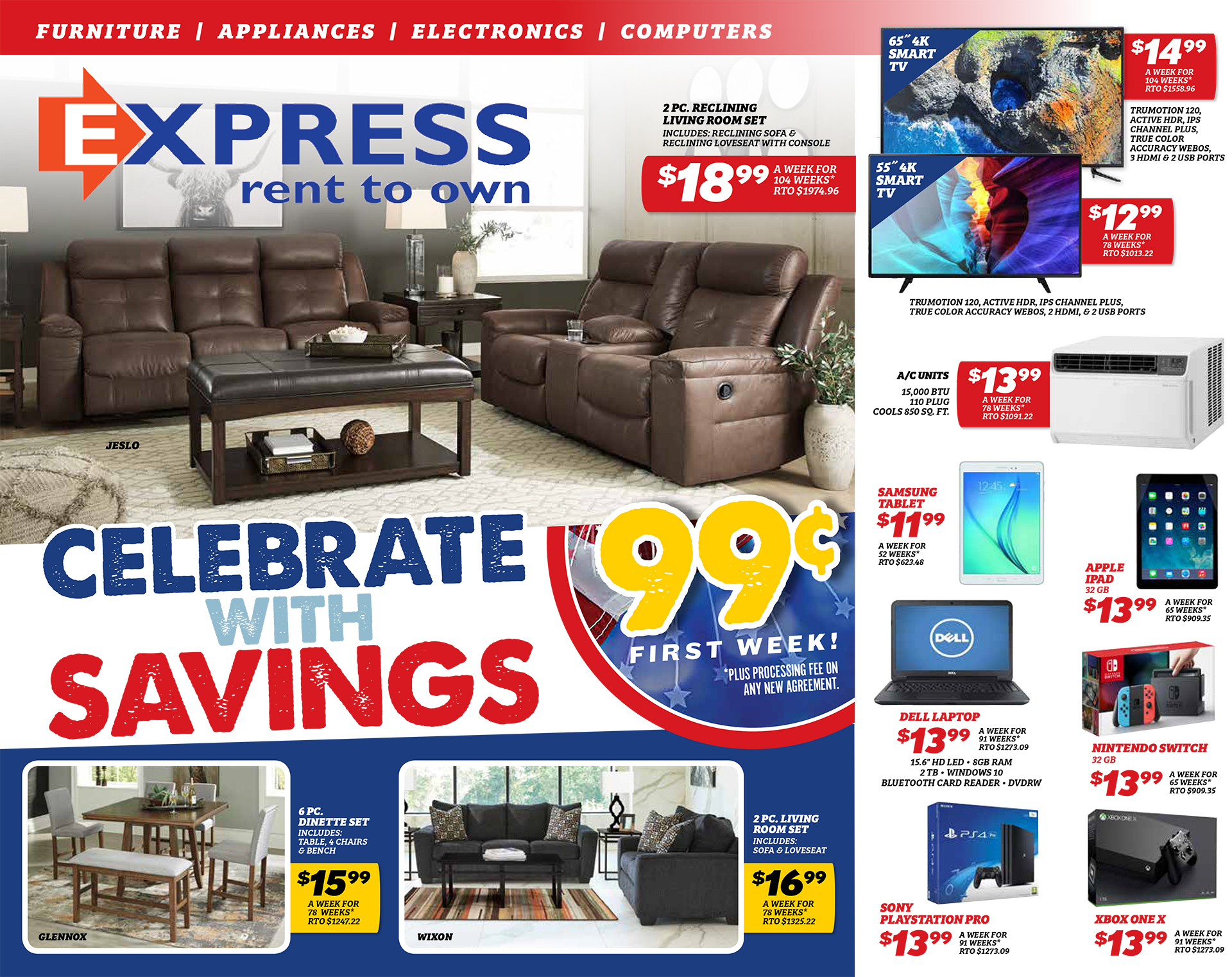 Express Rent To Own Affordable Furniture